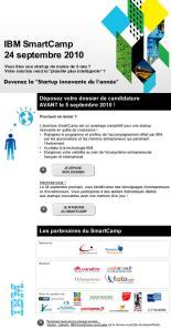 Invitation pour l'événement SmartCamp le 24 septembre au Siège d'IBM France
